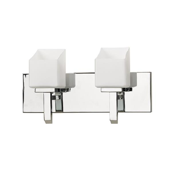 Russell Lighting Wall Mounted Light 2 Lights 15-in Polished Chrome