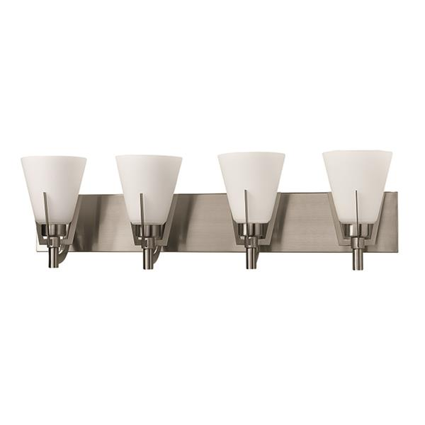 Russell Lighting Summit 4-Light Wall-Mounted Light - 29.5-in- Chrome