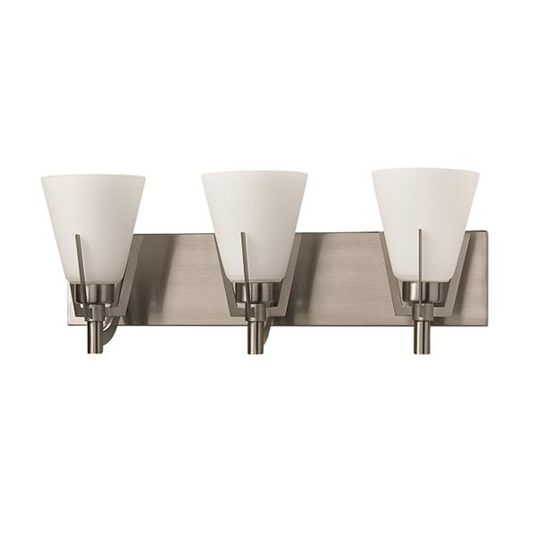 Russell Lighting Summit 3-Light Wall-Mounted Light - 21.5-in- Brushed Chrome