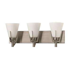 Russell Lighting Summit 3 Light Wall Mounted Light 21.5-in  Brushed Chrome