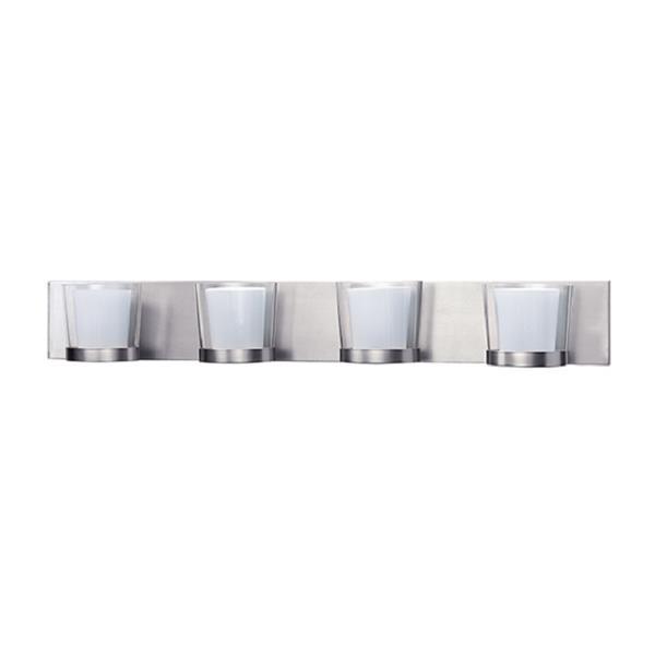 Russell Lighting 4-Light Wall-Mounted Vanity Light - 33.5-in- Chrome