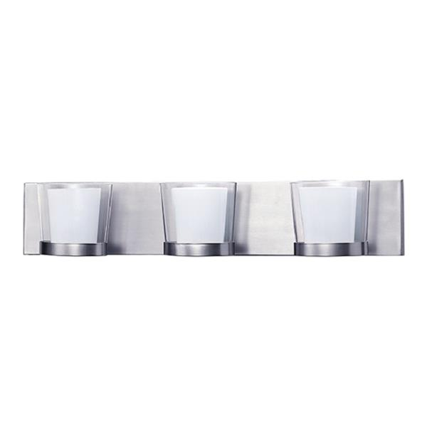 Russell Lighting 3-Light Wall-Mounted Vanity Light - 23.5-in- Chrome