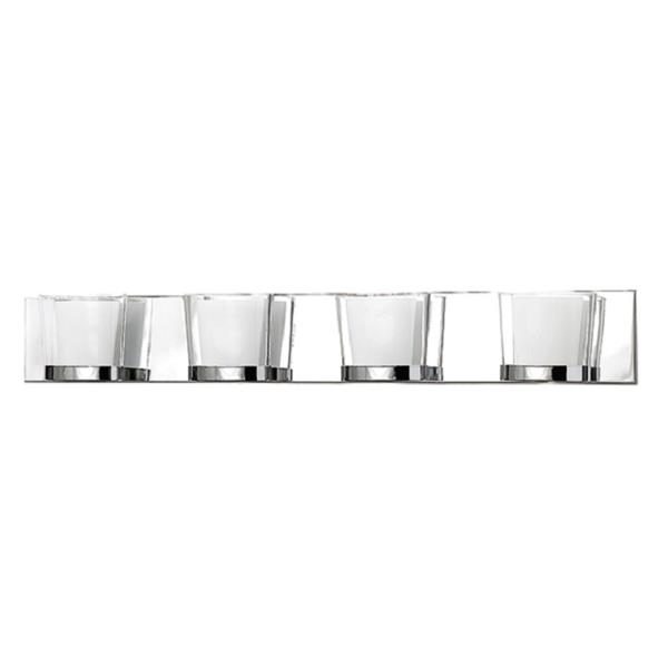 Russell Lighting 4-Light Wall-Mounted Vanity Light - 33.5-in- Chrome