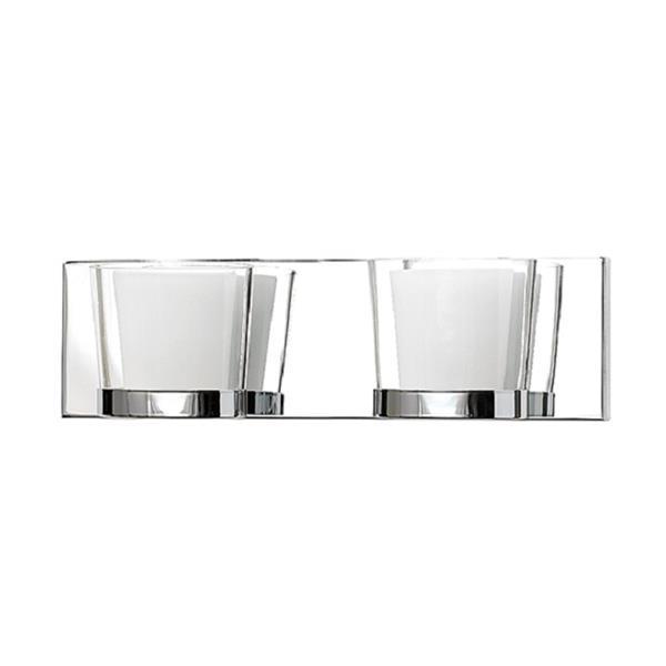 Russell Lighting 2-Light Wall-Mounted Vanity Light - 15.75-in- Chrome
