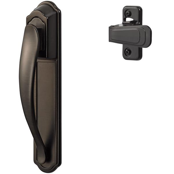 Ideal Security DX Oil Rubbed Bronze Pull Handle Set With Back Plate