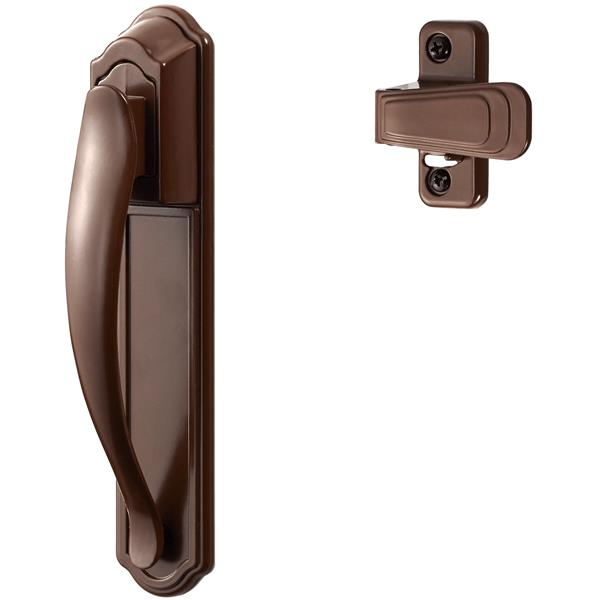Ideal Security DX Brown Pull Handle Set With Back Plate