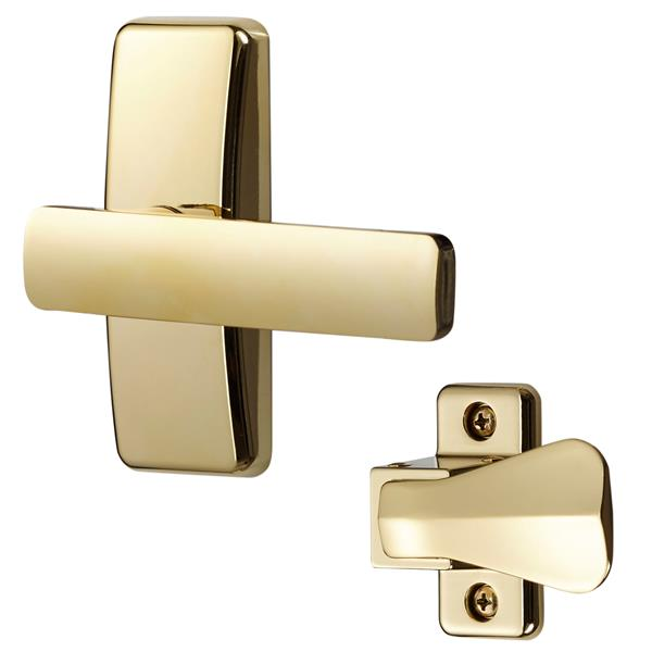 Ideal Security AJ Modern Bright Brass Lever Set For Storm Doors