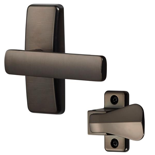 Ideal Security AJ Modern Oil Rubbed Brass Lever Set For Storm Doors