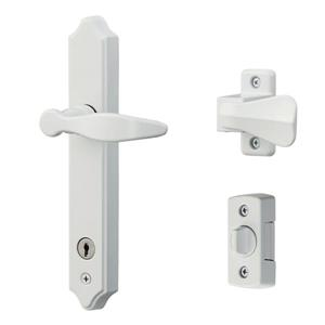 Ideal Security ML White Lever Set With Deadbolt