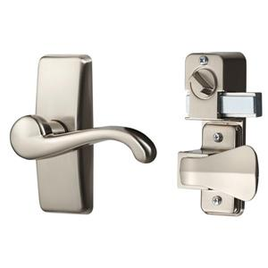 Ideal Security GL Satin Nickel Lever Set With Deadbolt