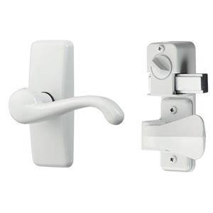 Ideal Security GL White Lever Set With Deadbolt