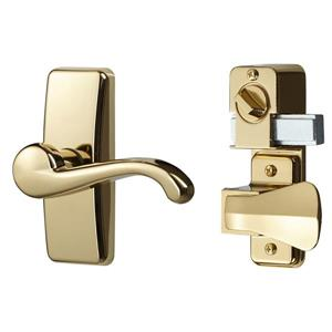 Ideal Security GL Bright Brass Lever Set With Deadbolt