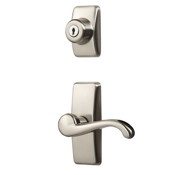 Ideal Security GL Satin Nickle Lever Set With Deadbolt