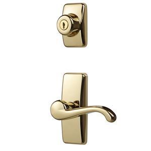 Ideal Security GL Brass Lever Set With Deadbolt
