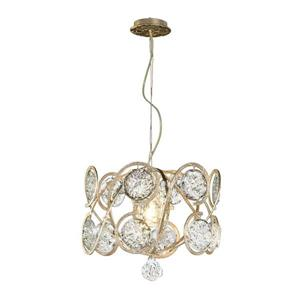 Classic Lighting Celeste 18-in Silver Frost Glam Clear Glass Drum Pendant