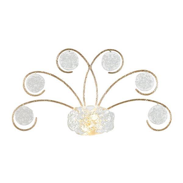 Classic Lighting Celeste 34-in W 1-Light Silver Frost Pocket Wall Sconce