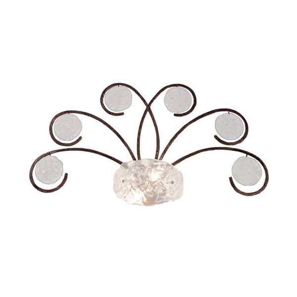 Classic Lighting Celeste 34-in W 1-Light Winter Bronze Pocket Wall Sconce