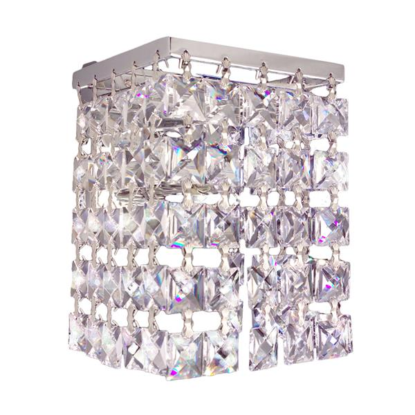 Classic Lighting Bedazzle 4.5-in W 1-Light Chrome Crystal Pocket Wall Sconce