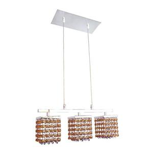 Classic Lighting Bedazzle 18-in W 3-Light Chrome Kitchen Island Light with Swarovski Elements Topaz And Medium Sapphire Crystal
