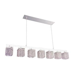 Classic Lighting Bedazzle 46-in W 7-Light Chrome Kitchen Island Light with Crystalique-Plus Crystal Shade
