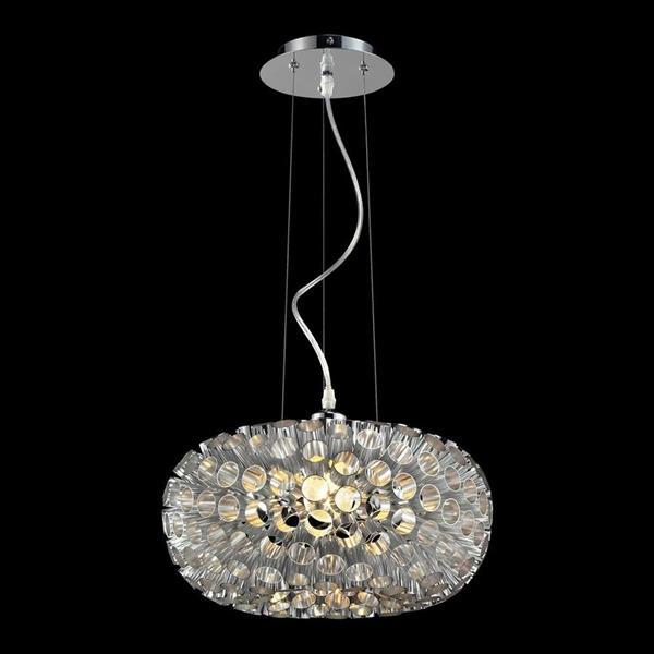 Classic Lighting LaguChrome 15-in Single Modern/Contemporary Geometric Pendant