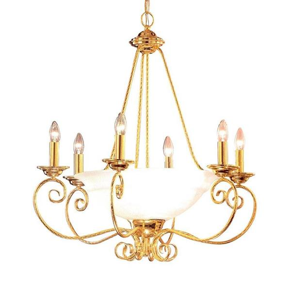 Classic Lighting Portofino Collection 36-in Bronze Alabaster 9-Light Candle Chandelier