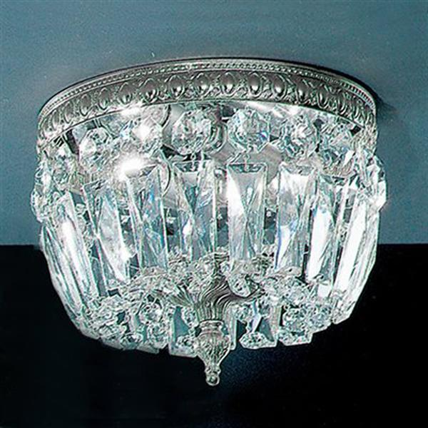 Classic Lighting Crystal Baskets 8-in W Chrome Italian Crystal Flush Mount Light