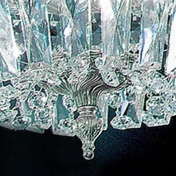 Classic Lighting Crystal Baskets 8-in W Olde World Bronze Italian Crystal Flush Mount Light