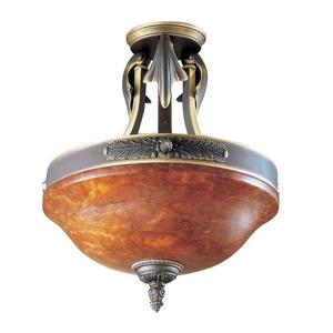Classic Lighting Venetian 2-Light Bronze 14-in x 14-in x 16-in Semi-Flush Mount