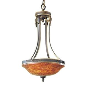 Classic Lighting Venetian 19-in Matte Bronze Traditional Bowl Pendant