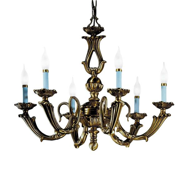 Classic Lighting Alexandria III Collection 36-in Victorian Bronze 6-Light Traditional Candle Chandelier