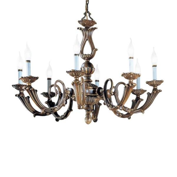Classic Lighting Alexandria III Collection 36-in Victorian Bronze 8-Light Traditional Candle Chandelier