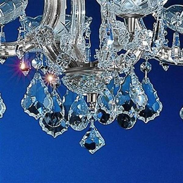 Classic Lighting Monaco Collection 36-in Black 5-Light Transitional Crystal Candle Chandelier