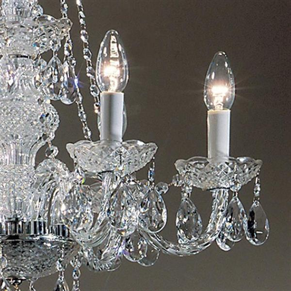 Classic Lighting Monticello Collection 36-in 24k Gold Plate 6-Light Traditional Candle Chandelier