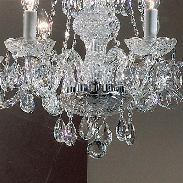 Classic Lighting Monticello Collection 36-in Chrome 6-Light Traditional Candle Chandelier