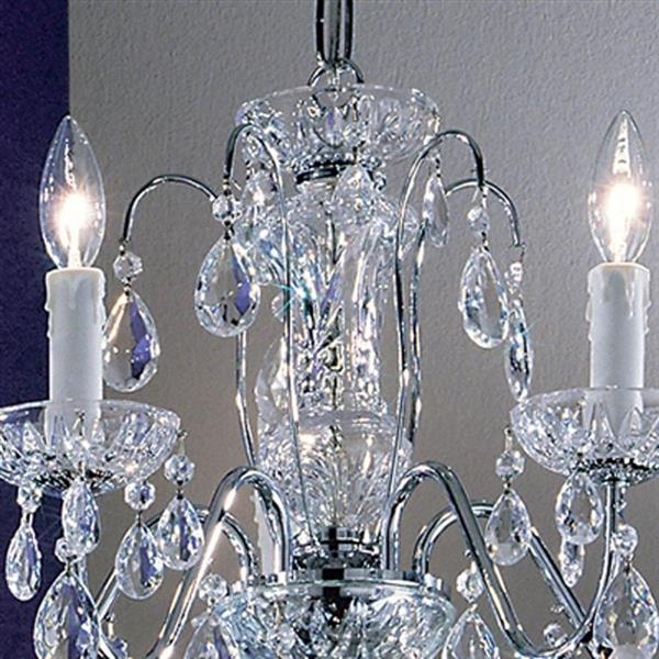Classic Lighting Daniele Collection 36-in Chrome 5-Light Traditional Candle Chandelier