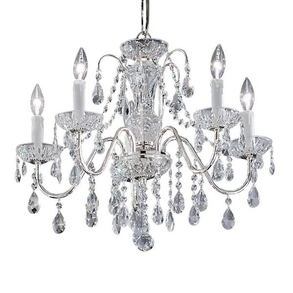 Classic Lighting Daniele 19-in Gold Plated Traditional Crystal Candle 5-Light Chandelier