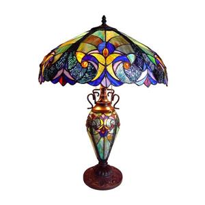 Chloe Lighting Victorian 26-in Dark Antique Bronze with Glass Shade Table Lamp