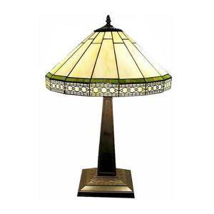 Roman 24-in with Bronze Base and Off White Glass Shade Table Lamp