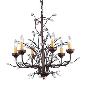 Warehouse of Tiffany 6-Light Bronze Modern Abstract Chandelier