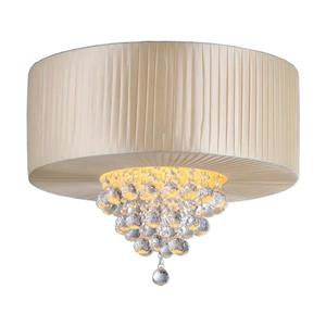 Crystal 20-in W Chrome Crystal Accent Flush Mount Light
