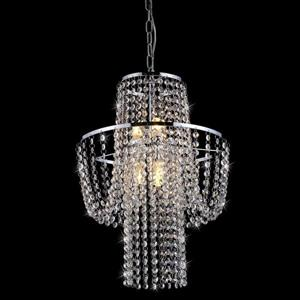Warehouse of Tiffany Charlotte Traditional Crystal Empire 15-in Chrome 8-Light Chandelier
