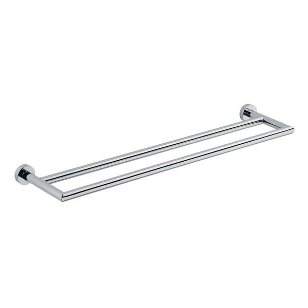 WS Bath Collections Baketo 22-in Polished Chrome Double Towel Bar