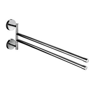 WS Bath Collections Duemila 11-in Polished Chrome Double Towel Bar
