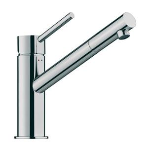 WS Bath Collections Linea 7.60-in Polished Chrome 1-Handle Single Hole Bathroom Faucet