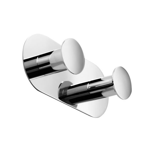 WS Bath Collections Napie 2-Hook Polished Chrome Towel Hook