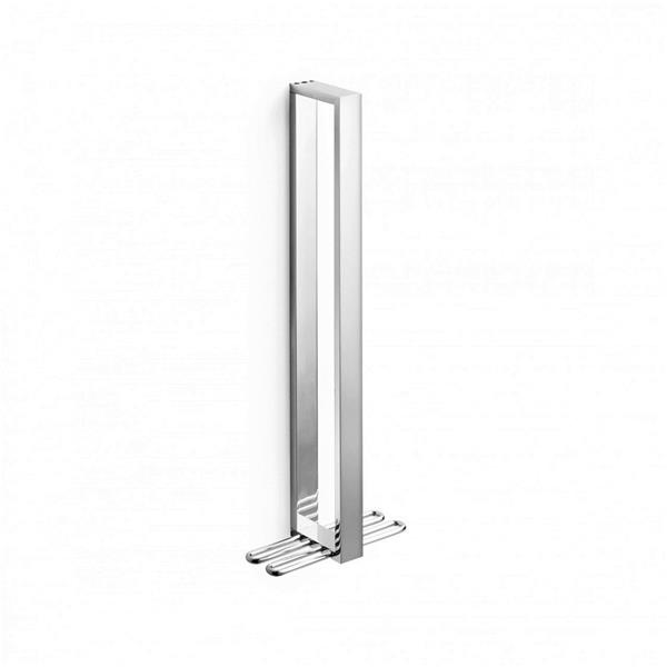 WS Bath Collections Skuara 15-in Polished Chrome Towel Bar