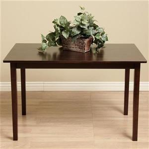 Warehouse of Tiffany 29.10-in x 30-in Dark Brown Wood Dining Table