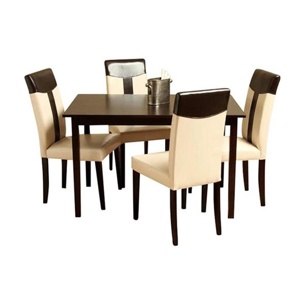 Warehouse of Tiffany Espresso 5 Piece Dining Set