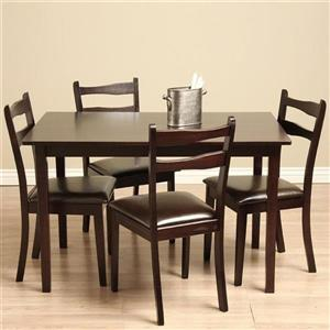 Warehouse Of Tiffany Callan Cappuccino 5 Piece Dining Set